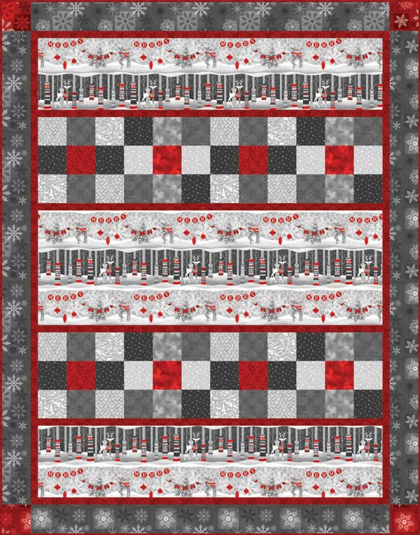 Holiday Magic Border Row Kit | BORDER PRINT FABRICS | Pinterest ... : print pictures on fabric for quilts - Adamdwight.com