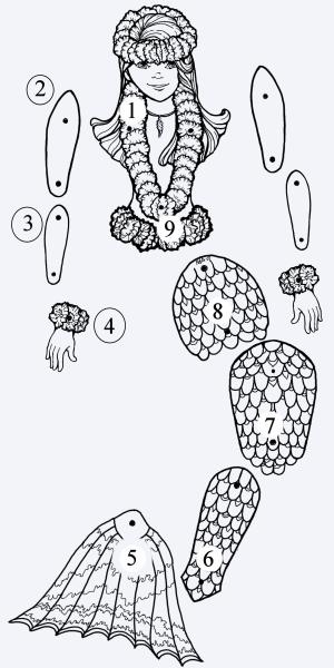 mermaid puppet instructions