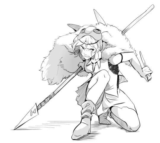 Coloriage Princesse Mononoke.Mononoke Hime Princesse Mononoke Cosplay Ghibli Et Studio