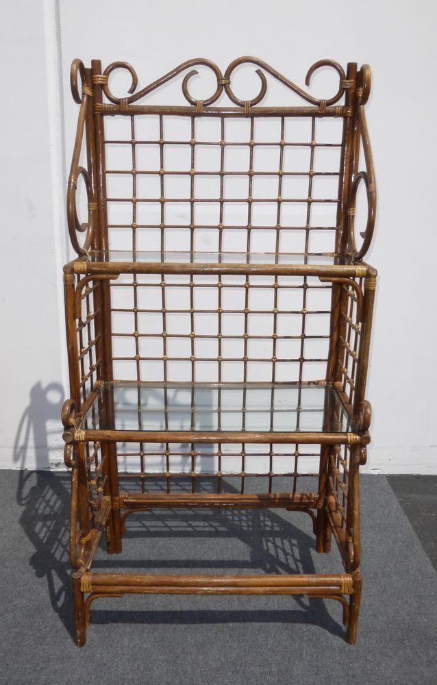 Vintage Bamboo Bakers Rack Three Tier With Images Key West
