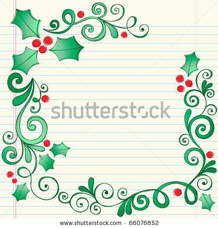 Christmas Holly Border Clipart