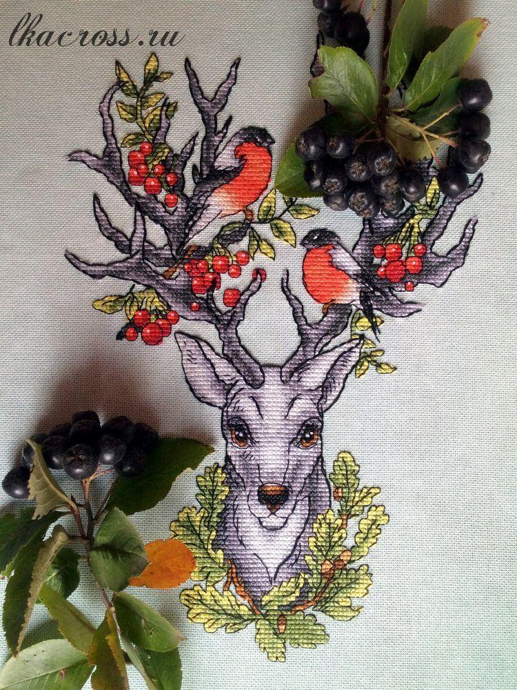 Схема для вышивки крестом. Cross stitch pattern. Хранитель леса