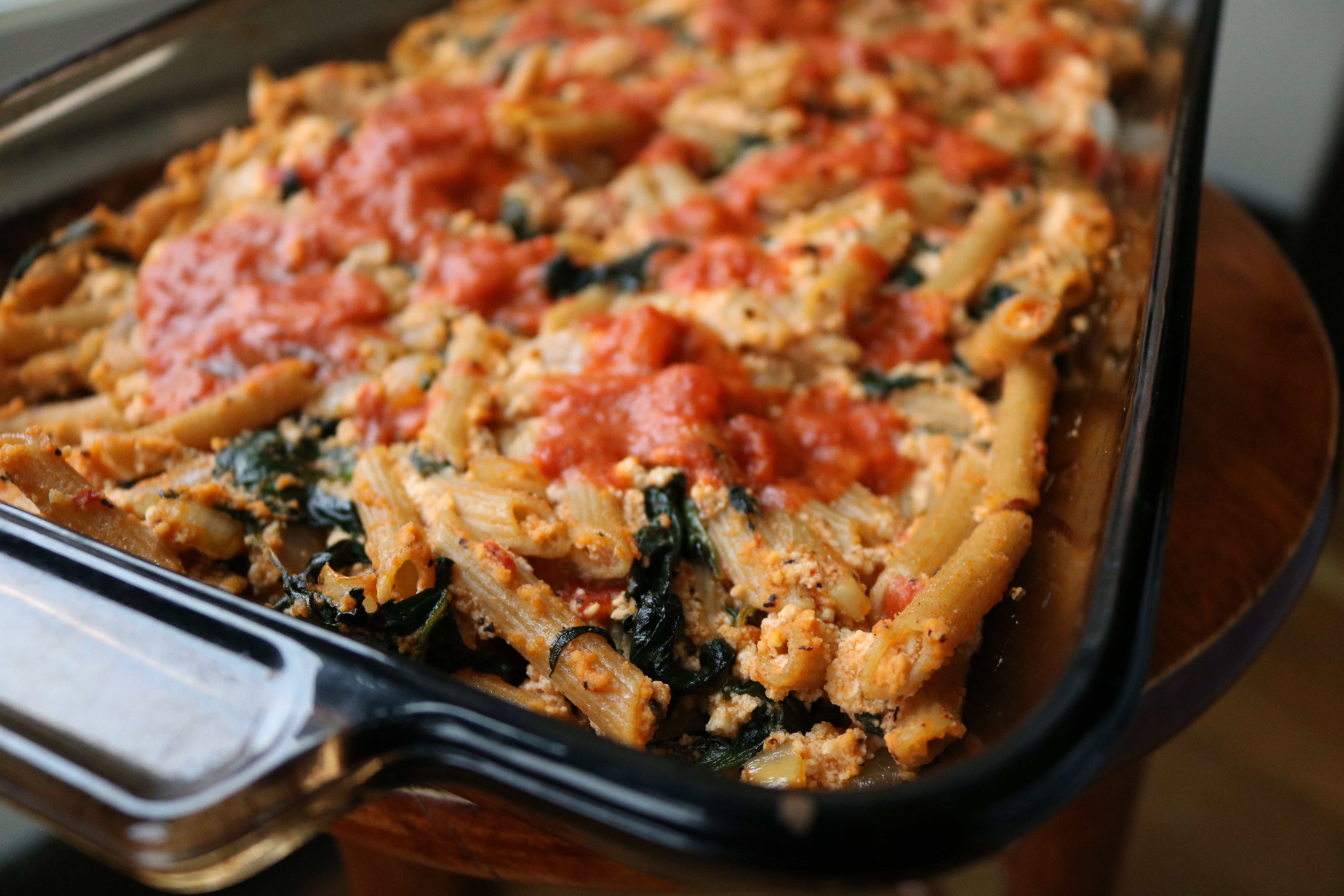 My Vegan Ricotta Pasta Bake Is Sure To Make Anyone Who Quot Could Not Give Up Cheese Quot Think Twice Vegan Ricotta Vegan Recipes Easy Ricotta Pasta Bake