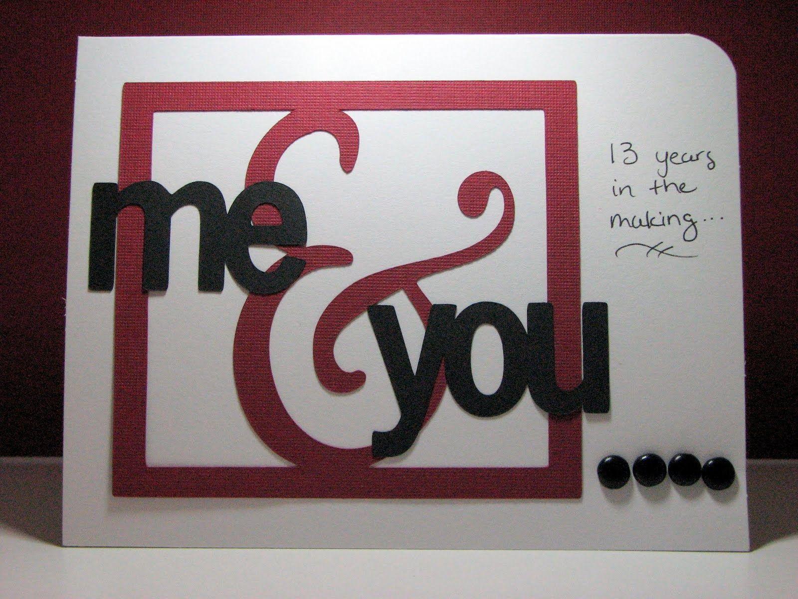 Handmade love card for husband. cricut anniversary card ideas