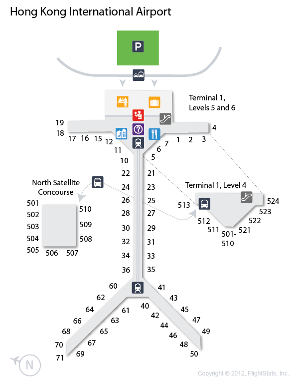 Hong Kong International Airport Terminal 1 Map HKG) Hong Kong International Airport Terminal Map | airports