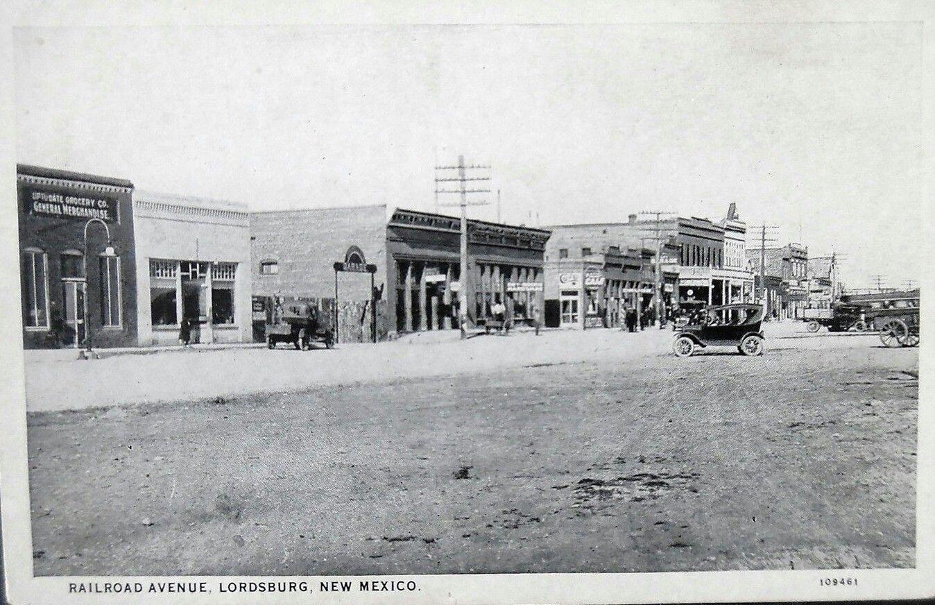 Railroad Avenue Lordsburg Nm 1920s Old New Mexico
