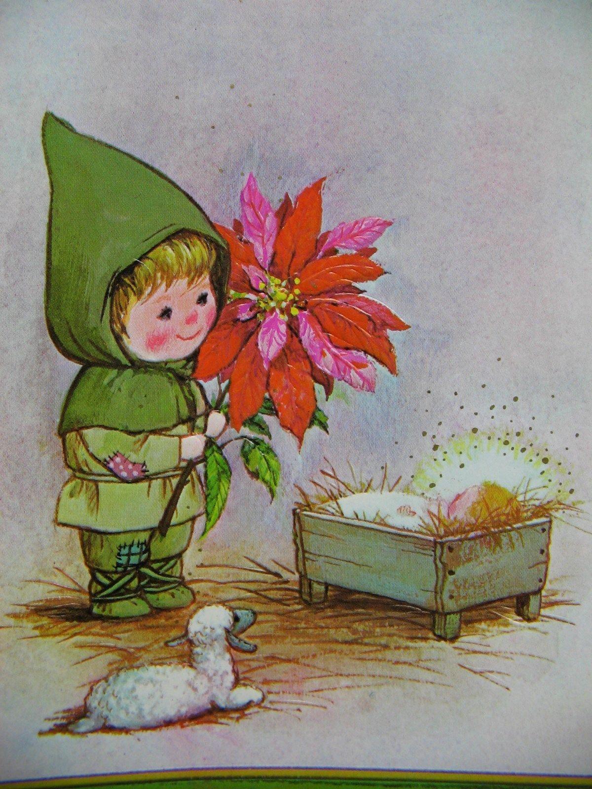 17 Vintage 1970s Drawing Board Gyo Fujikawa Christmas Cards Poinsettia Legend   eBay