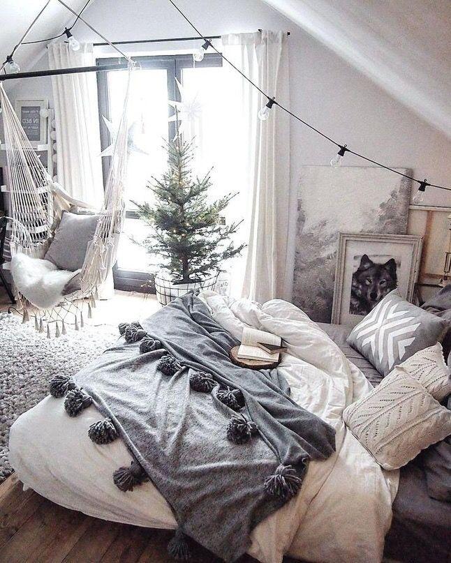 Adolescente Wohnen Schlafzimmer Dekorieren Wohnung