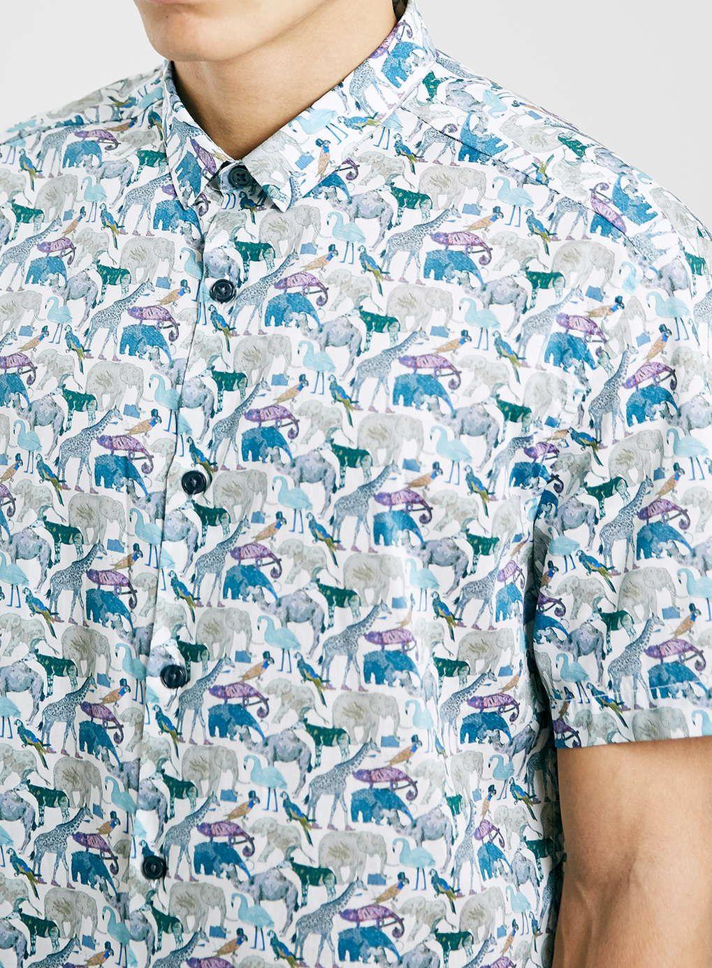 9b5344b26576 Photo 2 of Premium Zoo Animal Print Shirt in Liberty Art Fabric ...
