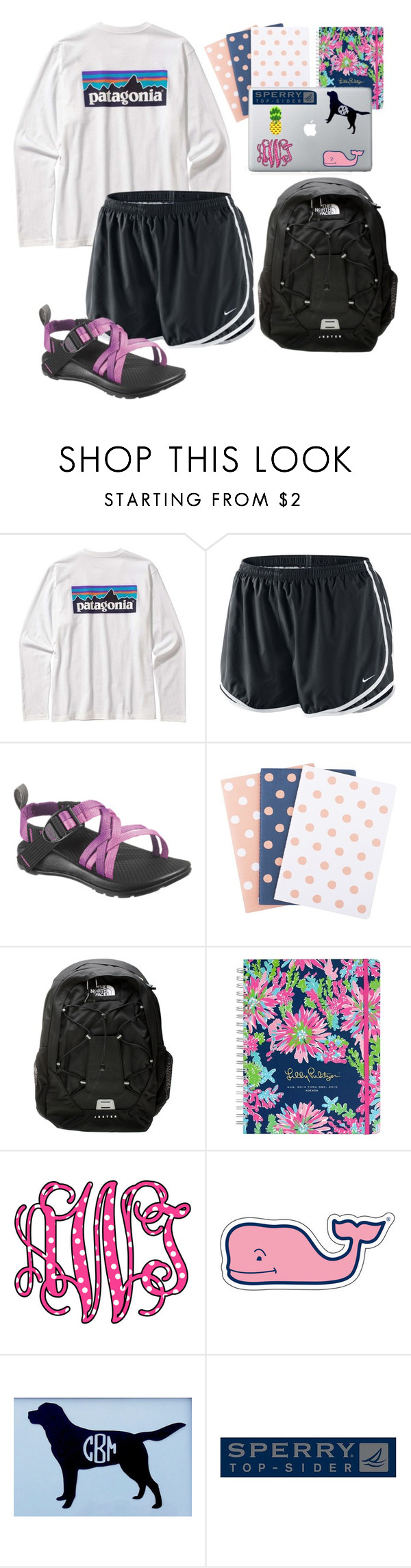 School (eck) by sassy-prep on Polyvore featuring NIKE, The North Face, Patagonia, Lilly Pulitzer, Sperry Top-Sider, Vineyard Vines, women's clothing, women's fashion, women and female