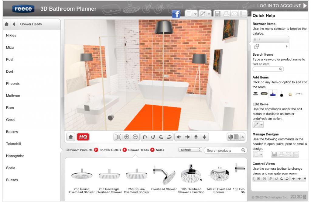 New Easy Online 3d Bathroom Planner Lets You Design Yourself