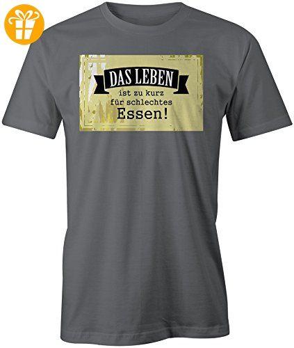 Das Leben Ist Zu Kurz Fuer Schlechtes Essen ☆ Rundhals-T-Shirt Männer-