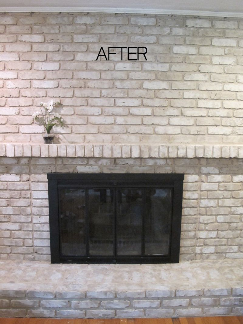 TUTORIAL: How to Paint a Brick Fireplace | Brick fireplace, Bricks ...