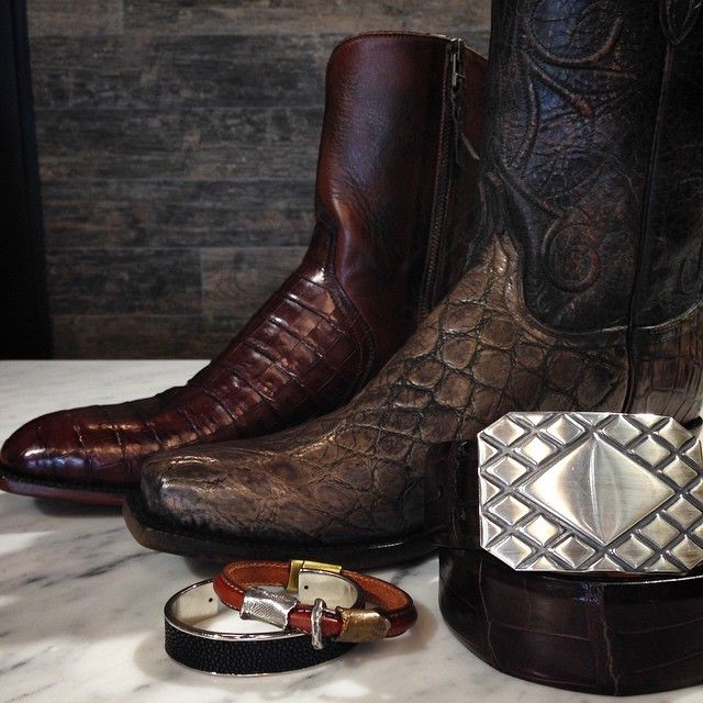 Check out our Giant Alligator and Barrel Brown Caimen Crocodile boots from Lucchese Classics.