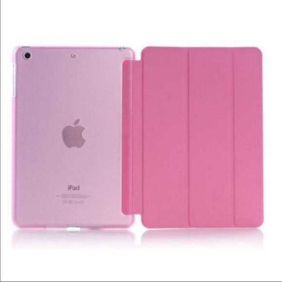 Magnetic Leather flip Case iPad Mini 1/2/3 Magnetic Leather flip Case iPad Mini 1/2/3 Listing is Fashion Stand Magnetic Slim Leather Case for iPad Mini 1/2/3 with front and back full cover case  2 in 1 fashion flip magnetic smart case with auto sleep and wake function.   This is the Brand new pink Case.   Order will ship within 24 hours.  Thanks for looking. Accessories