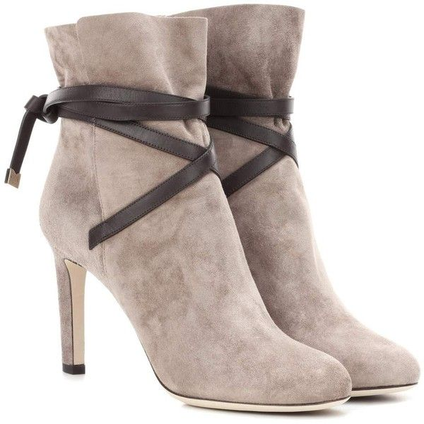 Jimmy Choo Dalal 85 Suede Ankle Boots (251.610 HUF) ❤ liked on Polyvore  featuring