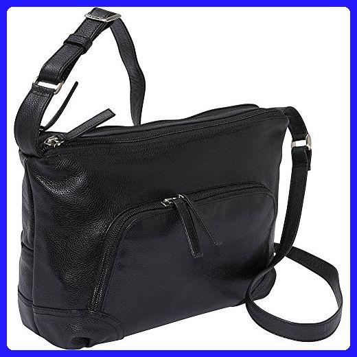 64ee9b540eb1 Derek Alexander EW Top Zip (Black) - Crossbody bags (*Amazon Partner ...