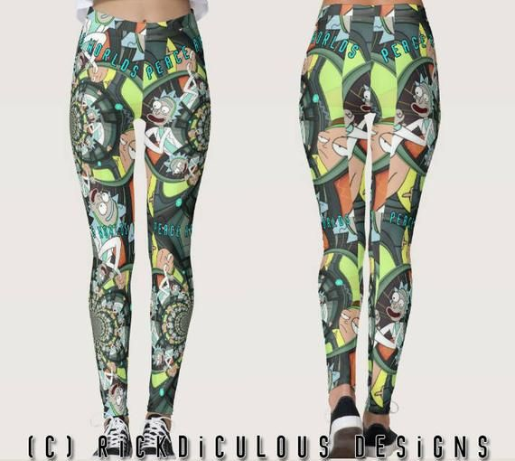 0ccee16b0e9b6 Rick and Morty - Rick Sanchez - Womens Festival Leggings - Rickdiculous -  Riggity Wrecked - Psyched