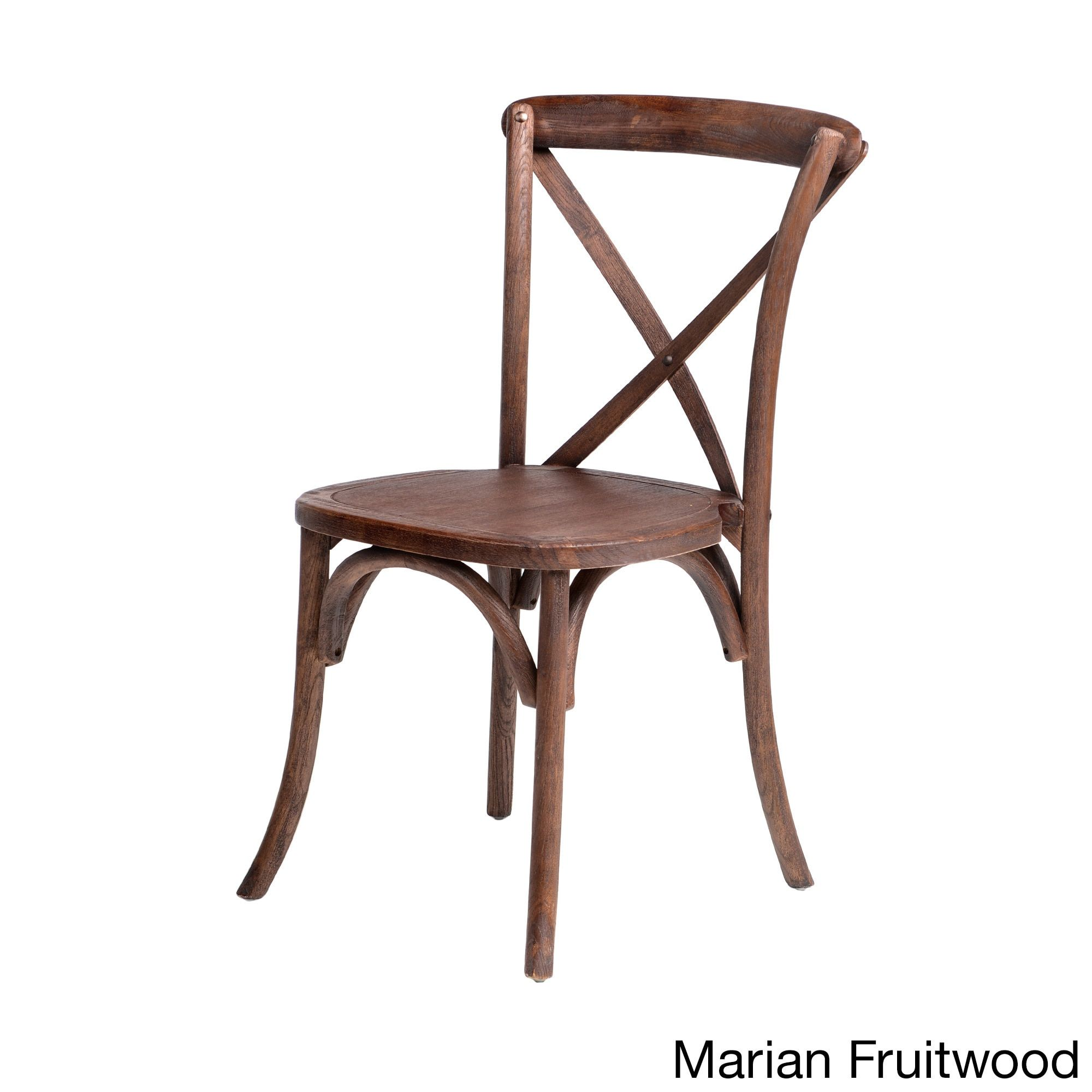 Sonoma Brown Wood Rustic surface Cross back Stackable Dining Chair