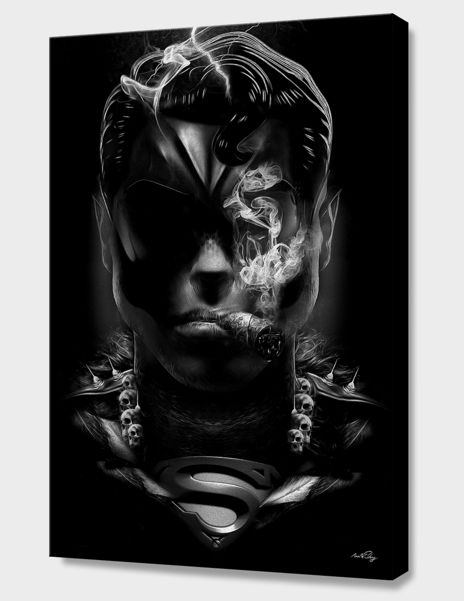 """SUPERMAN"", Limited Edition Canvas Print by Nicolas OBERY - From $110.00 - Curioos"