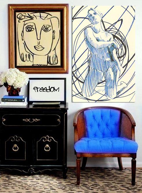 art that isn't framed is by SIXTOS ASCHER