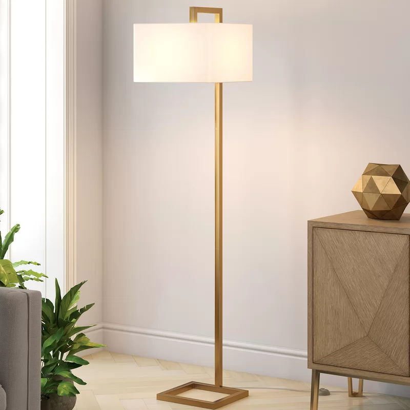 """Hesser 10"""" Arched Floor Lamp  Tall lamps bedroom, Arched floor"""