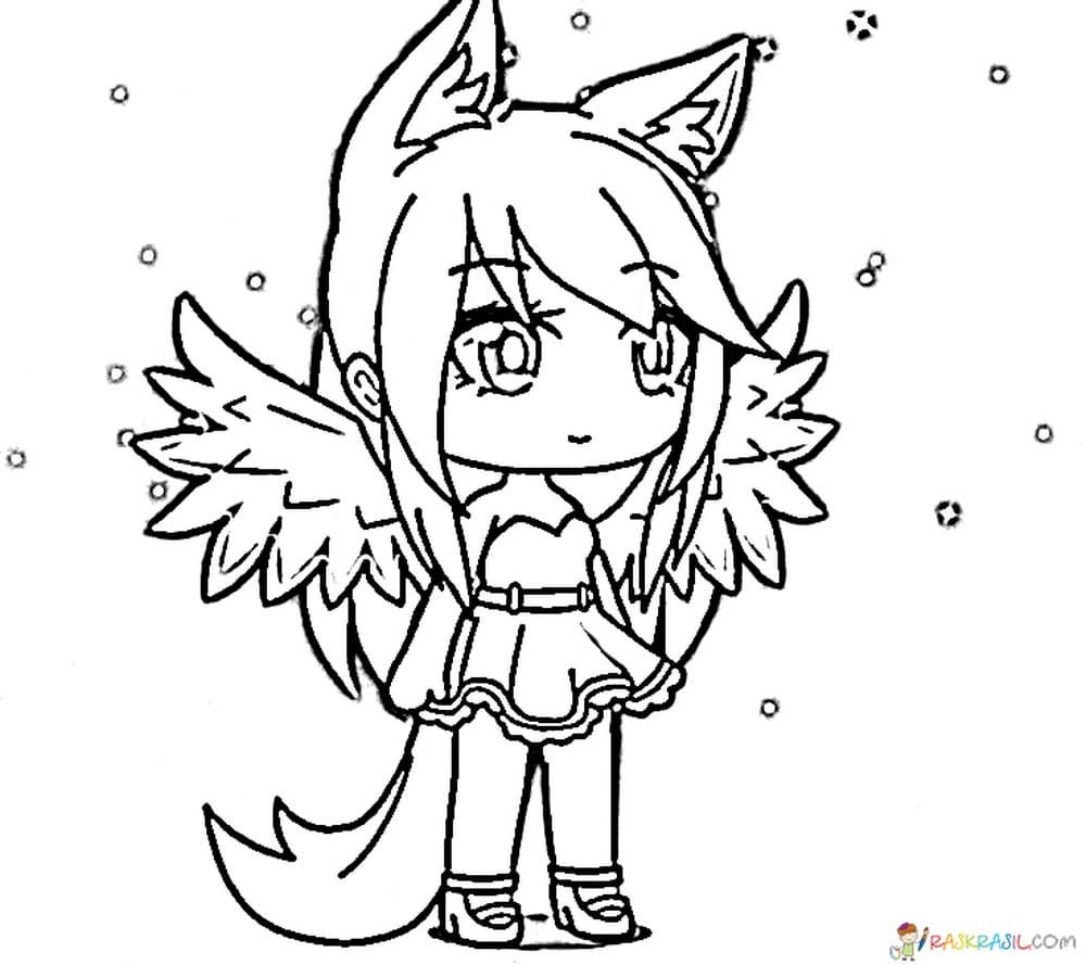 Gacha Life Coloring Pages Unique Collection Print For Free Cute Coloring Pages Coloring Pages Kitten Drawing