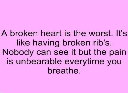 Love#Quotes The pain was unbearable, but now I can finally breathe ...
