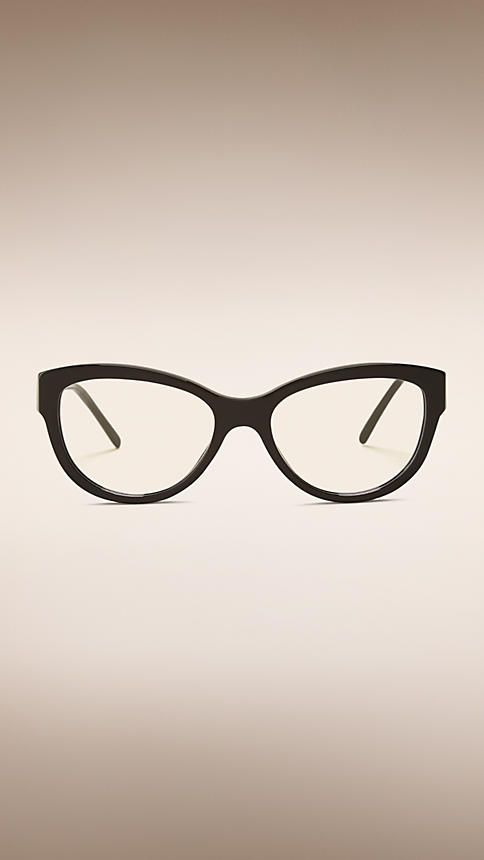 fbe955f2743 Black Gabardine Collection Cat-eye Optical Frames - http   www.visiondirect