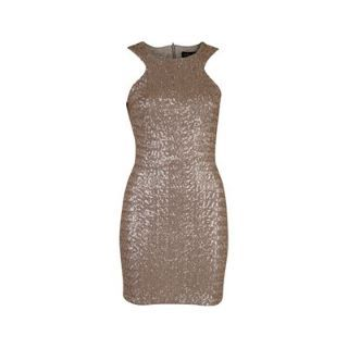 Gold sequins... we are in love. This dress shines brighter than the fairy lights. #partydress #gold #sequins