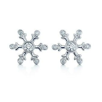 d0d56f235 Tiffany & Co Snowflake Diamond Earrings | Jewelry in 2019 | Stuff to ...