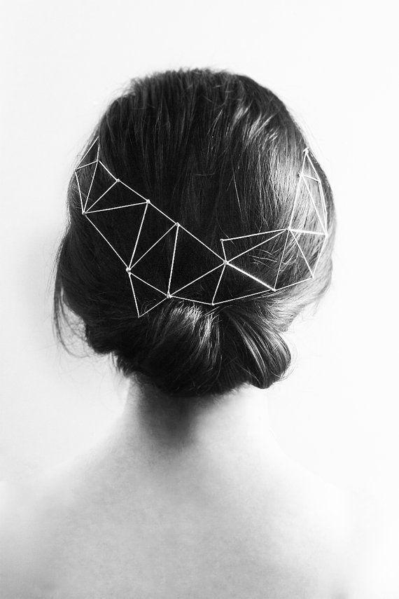 Aurora semi crown - Metal modern headpiece