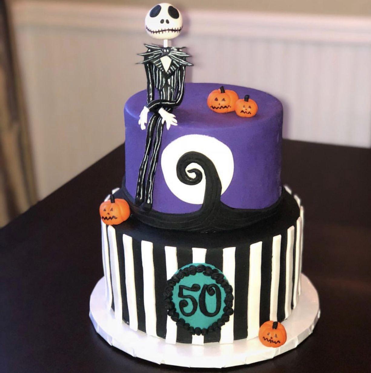 Nightmare Before Christmas Jack Skellington Birthday Cake