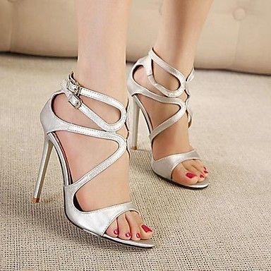 Brevet de piele pentru femei Stiletto sandale Heel Peep Toe Pantofi (Mai multe culori)     – EUR € 44.99
