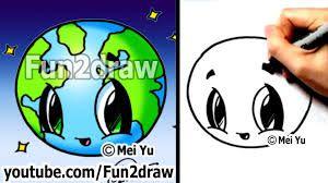Easy To Draw Earth Buscar Con Google Fun2draw Kawaii Drawings Cute Easy Drawings