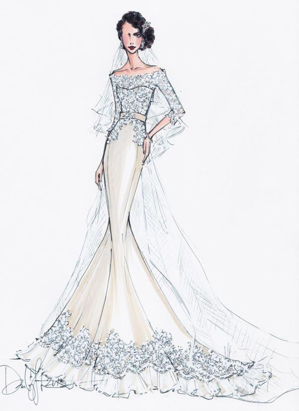 Wedding gown sketch wedding gown sketches pinterest for Magasins de robe de mariage vancouver wa