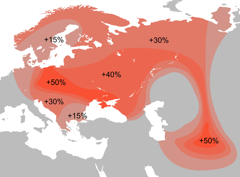 Distribution Haplogroup R1a Y-DNA | indigenous | Dna genealogy