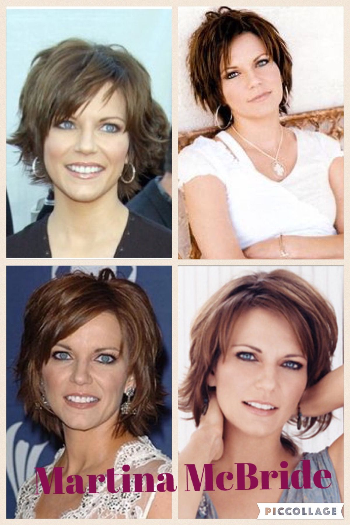 growing out in the styles of martina mcbride. | short hair