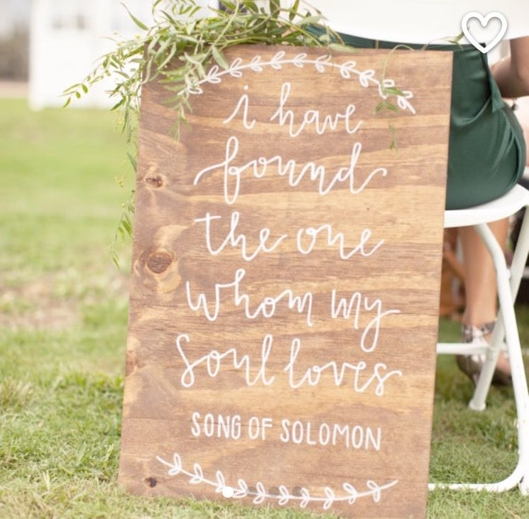 Wooden Rustic Wedding Song Of Solomon Sign