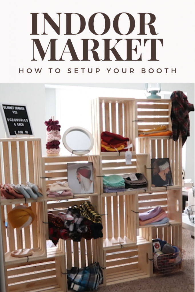 Market Display Ideas - How To Make Your Craft Fair Booth Beautiful! - #craftfairs