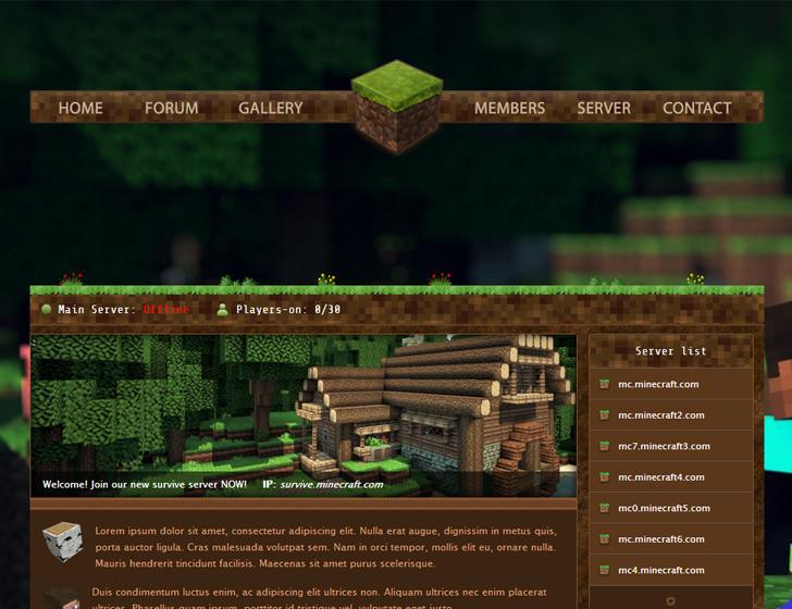 Old Minecraft server template on Behance | Minecraft Promo | Pinterest