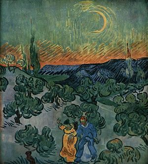 """Landscape with Couple Walking and Crescent Moon"", May 1890"
