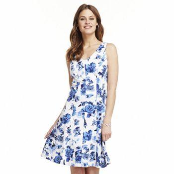 995078e204ea Chaps Floral Pleated Dress. Rehearsal DressWedding Guest DressesPleated ...