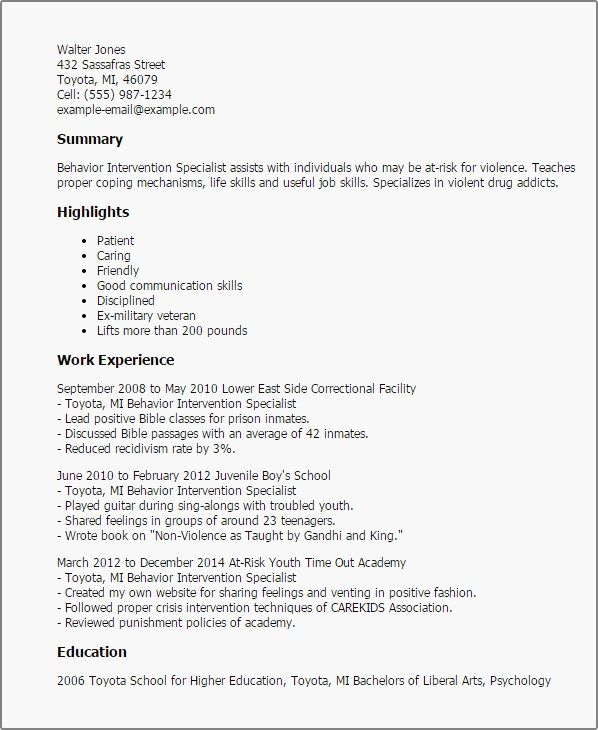 Resume Sample Beautiful Behavior Consultant Cover Letter New ...