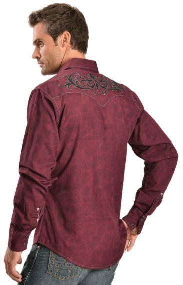 Wrangler Rock 47 Cotton Printed Tribal Embroidered Western Shirt - Sheplers