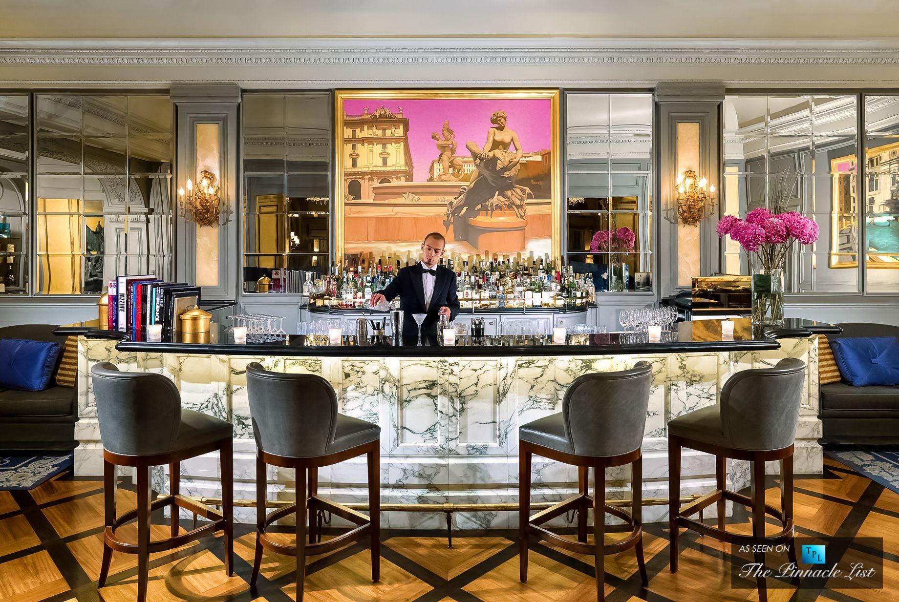 St. Regis Luxury Hotel - Rome Italy Bar Detail Bars