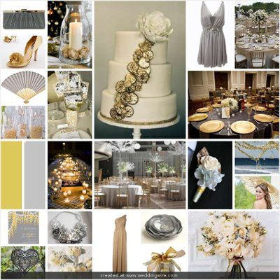 grey and gold wedding | wedding | Pinterest | Wedding, Weddings ...