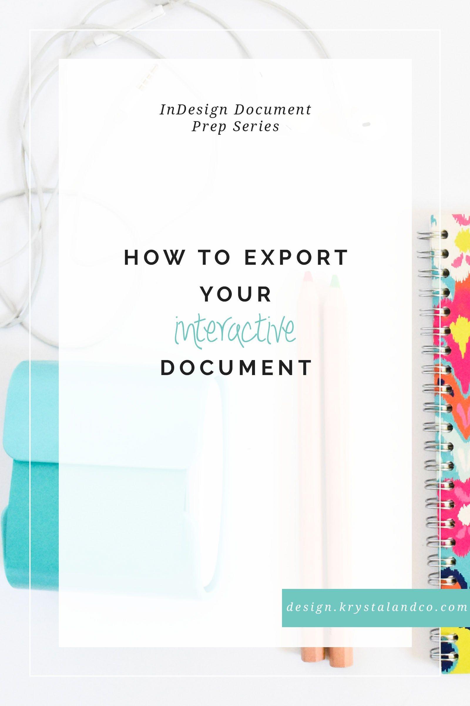 design-export-interactive-doc | T O O L K I T | INDESIGN