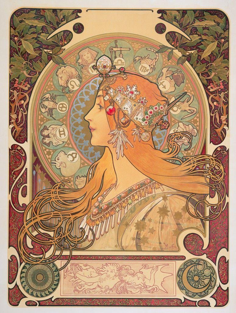 Alphonse Mucha - Zodiac   (favorite hehehe)