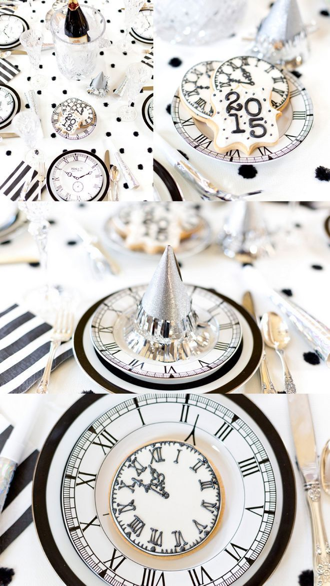 Black + White New Years Eve Party by http://Pizzazzerie ...